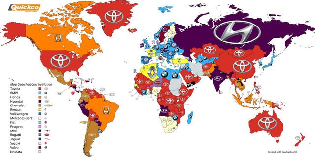 2016年に世界でも最も検索された自動車ブランドはこれだ!