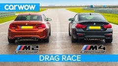 BMW M2 コンペティション vs BMW M4 コンペティション 加速対決動画