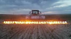 大規模とうもろこし畑のワイルドな雑草除去方法
