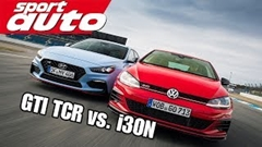 フォルクスワーゲン ゴルフ GTI TCR vs ヒュンダイ i30N パフォーマンス サーキット対決動画