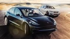テスラ モデル3 vs BMW M3 サーキットラップタイム比較動画