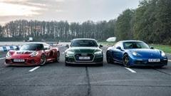 ロータス エキシージ CUP 430 vs ポルシェ ケイマン GTS vs アウディ RS5 ドラッグレース動画