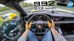 ポルシェ 992 カレラS カブリオレの0-300kmh加速動画