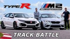 BMW M2 コンペティション vs ホンダ シビック TYPE R ドラッグレース&サーキットラップタイム対決動画