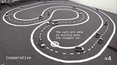 車同士が通信すると渋滞が減るらしいよ
