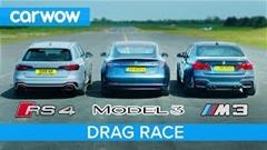 テスラ モデル3 vs BMW M3 vs アウディ RS4 ドラッグレース動画