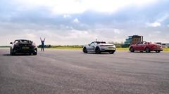 BMW Z4 M40i vs ポルシェ ボクスター GTS vs アウディ TTS ロードスター 加速対決動画