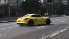 調子に乗りすぎたポルシェ ケイマン GTS がクラッシュ!