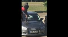 19歳の難民が次々と車をぶっ壊しちゃう動画
