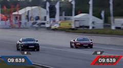 マクラーレン 720S vs 1200馬力 日産 GT-R ドラッグレース動画