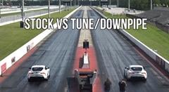 新型トヨタ スープラ  ノーマル vs ライトチューンドラッグレース動画