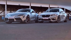 トヨタ GRスープラ vs BMW M2 コンペティション サーキット対決動画