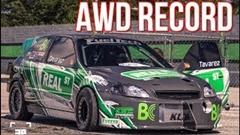 ゼロヨン7秒55!AWDホンダ車世界最速 1400馬力の激速シビック
