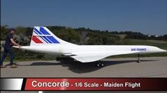 全長10m!1/6スケール巨大RCコンコルドの飛行動画