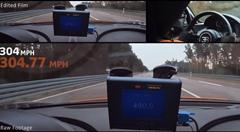 超はえー!ブガッティ シロン 490.48km/h オンボード動画
