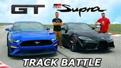 フォード マスタング vs トヨタ スープラ サーキット対決動画