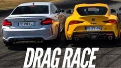 BMW M2 コンペティション vs トヨタ GRスープラ ドラッグレース対決動画