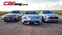 BMW Z4 M40i vs トヨタ GRスープラ vs フォード マスタング GT ドラッグレース動画