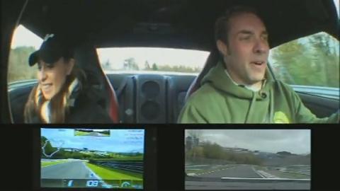 日産GT-R実車 vs グランツーリスモ PSP  ニュル対戦動画