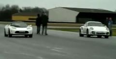 テスラ ロードスター スポーツ vs ポルシェ 997ターボ 加速対決動画