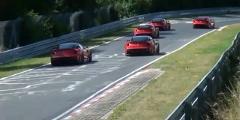 フェラーリ 599XX が同時に6台も走っちゃう動画