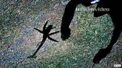 あいたたた!自分で飛ばしているラジコンヘリに当たっちゃう動画