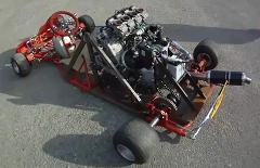 ヤマハFZR1000のエンジンを積んじゃったカートの動画