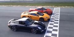 マクラーレン MP4-12C vs フェラーリ 458 イタリア vs ポルシェ 997 ターボ 加速対決動画