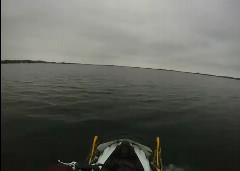 スノーモービルで湖を対岸まで渡り切っちゃうぜって動画
