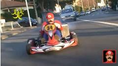 リアルでマリオカートをしちゃう超面白動画