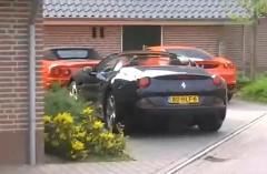 なんかすごい!フェラーリだらけの普通の住宅街の動画