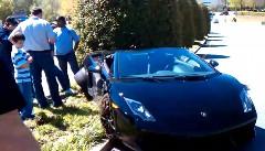 1300馬力のランボルギーニ ガヤルドが交差点でクラッシュしちゃう動画