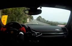 フェラーリ 458 イタリアで日本の公道を飛ばしちゃうぜっていう動画