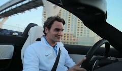 王者ロジャー・フェデラーが SLS  AMG ロードスターをテストドライブしちゃうプロモーション動画