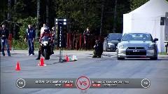 日産 GT-R 850馬力 vs スズキ ハヤブサ GSX-1300R 加速対決動画