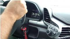 フェラーリ 458 イタリアが高速道路で329km/hも出しちゃう動画