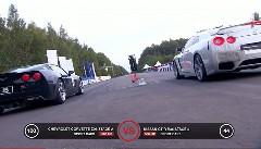 シボレー コルベット Z06 vs 日産 GT-R 加速対決動画
