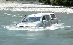 これもコースなんすか!?シルクウェイ・ラリーで川を渡る三菱 トライトンの動画