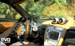 パガーニ ウアイラが公道を走っている所を車内から撮影した動画