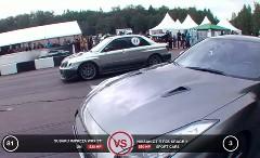 日産 GT-R 550馬力 vs スバル インプレッサ WRX STI 530馬力 加速対決動画