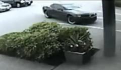 シボレー カマロが駐車に失敗して事故っちゃう動画