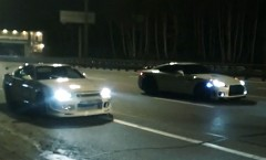 日産 R34スカイラインGT-R 900馬力 vs R35 GT-R 850馬力 新旧チューンドGT-R 公道加速対決