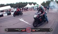 スズキ GSX1300R ハヤブサ vs GSX-R1000 加速対決動画