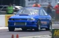 三菱 デリカバン vs スバル インプレッサ WRX STI  ゼロヨン対決動画
