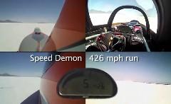 はえー!!トップスピード 687km/h!ボンネビル超高速走行のオンボード動画