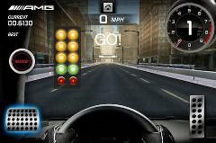 意外と楽しい!iPhone で遊べる SLS AMG ロードスター 0-100-0mph タイムトライアルゲームの動画