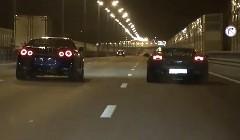 ランボルギーニ ガヤルド スーパーレジェーラ 1200馬力  vs 日産 GT-R 1200馬力 公道加速対決動画