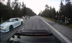 850馬力のBMW vs 日本車軍団 公道ドラッグレース動画