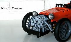 レゴでモーガンの3ホイーラーを作ってみた動画