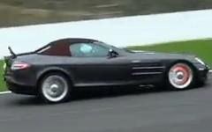 メルセデスベンツ SLR マクラーレン ロードスターのカーボンブレーキが真っ赤になってる動画